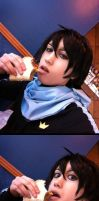 Yato Eating a Taco by ChibiStarChan