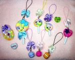 Pastel Cell Phone Charms by TashaAkaTachi