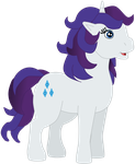 My first vector of Rarity. by Flutterflyraptor