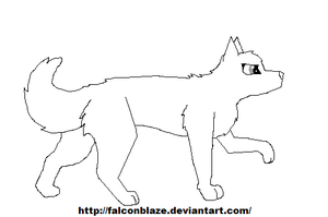 MS paint friendly dog line art by Ima-Falcon