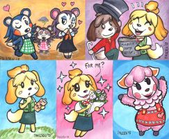 Animal Crossing ATCs by chrispco