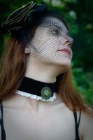 Black Clockwork Pendant Choker by TheHauteDame