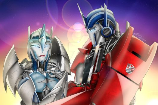 Electronia and Optimus Commission by Lady-ElitaOne-Arts