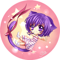 Chibi Miya Button by Sekaia