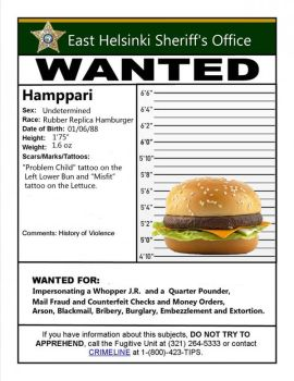 Wanted Poster Hamppari by TheLobes