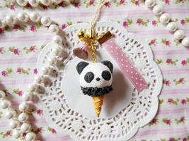 Panda Ice Cream Strap by KeoDear