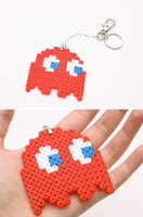 Large Red Ghost keychain by FrozenNote