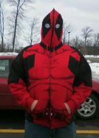 Happy Deadpool Customer Zipped by Linksliltri4ce