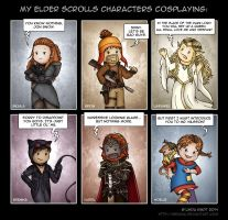 My Characters Cosplaying by Isriana