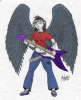 Dark Angel of Rock by akuma119