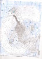 Waterfall Dragon by ShadowOrder7