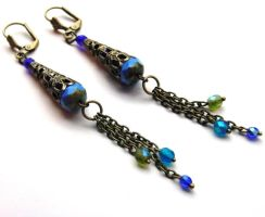 Mermish Heiress Earrings no. 2 by sojourncuriosities