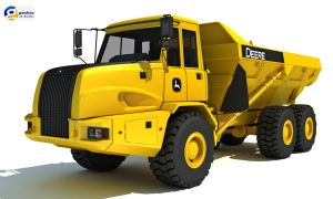 John Deere 300D Articulated Dump Truck by Gandoza