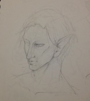 unfinished elf by MeowcatLive