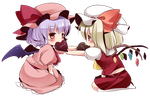 Remilia and Flandre Scarlet by EroDonut
