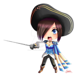 Chibi Fiora royal guard (League of Legends) by Hyldenia