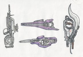 Halo - The Halo 2 Weapons by ninboy01