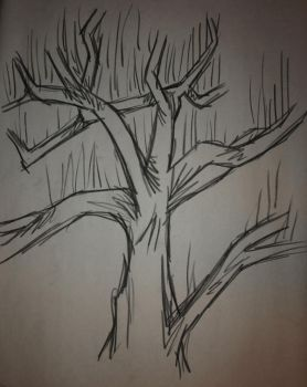 Tree Study: Straight Lines by Lyriael