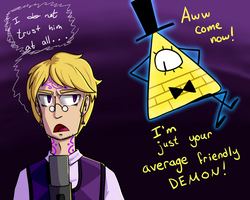 Cecil And Bill Cipher by IamDreamland666