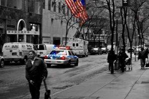 Cop Car in New York by RasmusJt