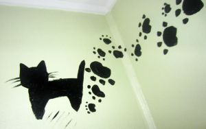 Who walked on my walls with muddy paws? by DinaSirene