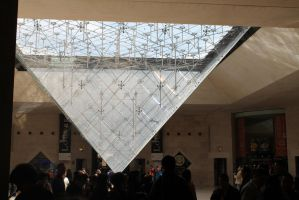 Louvre, the inverse pyramid by zhuravlik26