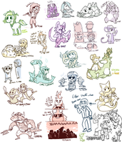 --+ Chibi Party in the house by TeaDino