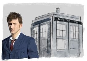 28-01-15 The Tenth Doctor by Anaelisch