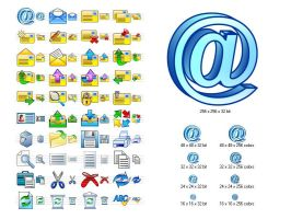 Email Icon Set by Iconoman