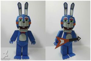five nights at freddy's 2 Toy Bonnie papercraft by Adogopaper