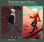 draw this again meme by hazumonster