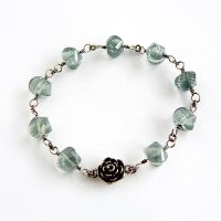Mystic Green Quartz Rose Bracelet by Gweyeni