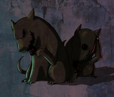 bloody dogs by envidia14
