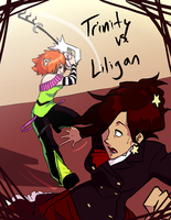 NuTourney1 - Trinity VS Lily by hyperionwitch