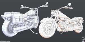Harley Davidson Wireframe by DTHerculean