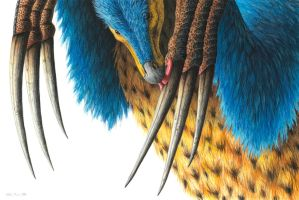 Therizinosaurus by EsthervanHulsen