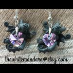 purple heart night-furry toothless earrings by carmendee