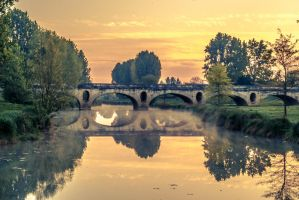 Chalon sur saone bridge by NICOTAZ