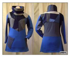 Pull bleu ouate by Emillye