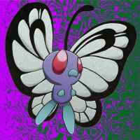 Butterfree (Oil Painting Color) by ScarletDraco