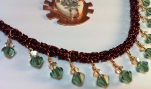 The Sea Myth Steampunk Necklace Closeup by Krystalchains
