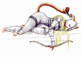 Cat nap by Cernunnas