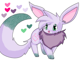 :Kiss an Tell eevee adoptable: by ToBiSeh