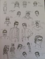 Dan Doodles (and friends) by grenouille-rousse