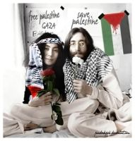 jhon n yoko for palestine by pandoedepok