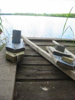 Small wooden boats by cottonmouth