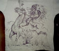 Drawing on shirt 1 by Imgema