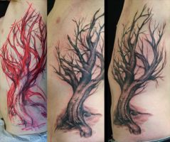 tree on ribs - WIP by PaintedPeople