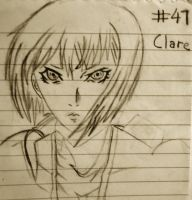 "clare from ""claymore"" by goth99"