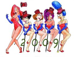 Chorus line - Happy New Year by kaspired